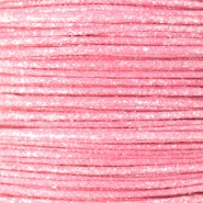 Waxkoord metallic 0.5mm Light pink