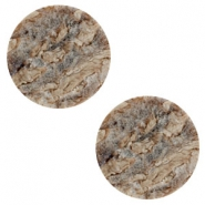 20 mm platte cabochon Polaris Elements stone look Anthracite-brown