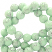 4 mm natuursteen kralen rond jade met marble look Light green