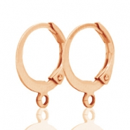 DQ oorringen 12mm Rose gold plated