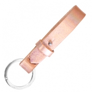 Cuoio sleutelhangers leer 15mm Holographic rosegold