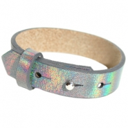 Cuoio armbanden leer 15 mm voor 20 mm cabochon Holographic anthracite