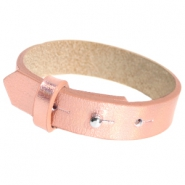 Cuoio armbanden leer 15 mm voor 20 mm cabochon Holographic rosegold