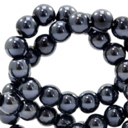 6 mm glaskralen DQ full colour Black pearl coating
