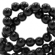 6 mm glaskralen full colour Black
