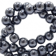 6 mm glaskralen full colour Black pearl coating