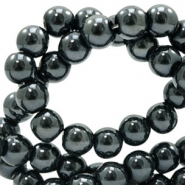 4 mm glaskralen full colour Black amber coating