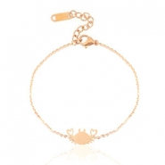 Roestvrij stalen (RVS) Stainless steel armbanden crab Rose gold