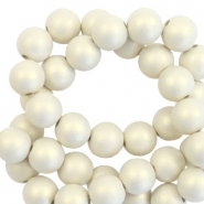 8 mm acryl kralen matt Silk beige-pearl coating