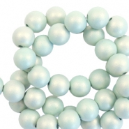 6 mm acryl kralen matt Light turquoise-pearl coating