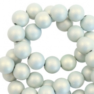 10 mm acryl kralen matt Light blue-pearl coating