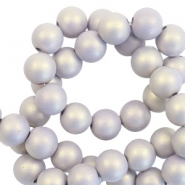 6 mm acryl kralen matt Lilac purple-pearl coating