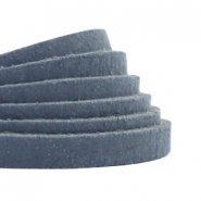 Plat 5 mm DQ leer Dark denim blue
