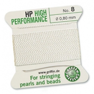 Griffin bead cord high performance Ø0.80mm White