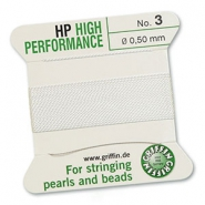 Griffin bead cord high performance Ø0.50mm White