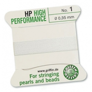 Griffin bead cord high performance Ø0.35mm White