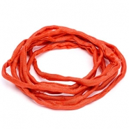Griffin habotai foulard cord Coral red