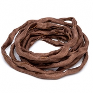 Griffin habotai foulard cord Brown