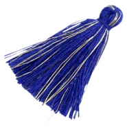 Kwastjes basic goldline 3cm Royal blue