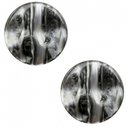 12 mm platte cabochon Polaris Elements Perseo Black silver