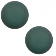 12 mm classic cabochon Polaris Elements matt Deep lake teal blue