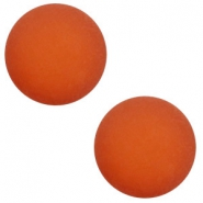 12 mm classic cabochon Polaris Elements matt Warm orange