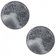 12 mm platte cabochon Polaris Elements stardust Gallant grey