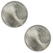 12 mm platte cabochon Polaris Elements stardust Warm grey