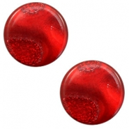 12 mm platte cabochon Polaris Elements stardust Warm red