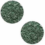 12 mm platte cabochon Polaris Elements Goldstein Dark classic green