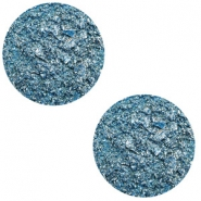 12 mm platte cabochon Polaris Elements Goldstein Harbour blue