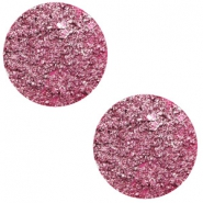12 mm platte cabochon Polaris Elements Goldstein Magenta pink