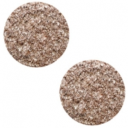 12 mm platte cabochon Polaris Elements Goldstein Taupe brown