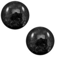12 mm classic cabochon Polaris Elements Lively Black