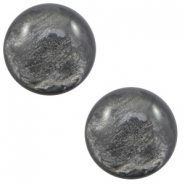 7 mm classic cabochon Polaris Elements Lively Dark grey