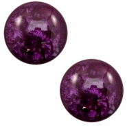 7 mm classic cabochon Polaris Elements Lively Dark purple