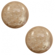 12 mm classic cabochon Polaris Elements Lively Colonial brown