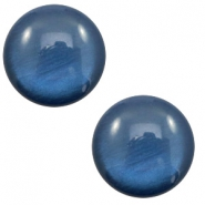 7 mm classic cabochon Polaris Elements soft tone shiny Dark blue