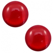 12 mm classic cabochon Polaris Elements soft tone shiny Warm red