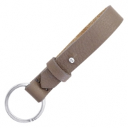 Cuoio sleutelhangers leer 15mm Deep greige brown