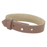 Cuoio armbanden leer 15 mm voor 20 mm cabochon Medium brown