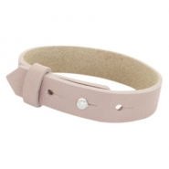 Cuoio armbanden leer 15 mm voor 20 mm cabochon Rose taupe