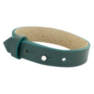 Cuoio armbanden leer 15 mm voor 20 mm cabochon Forrest green