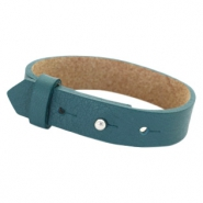 Cuoio armbanden leer 15 mm voor 20 mm cabochon Night tide green