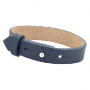 Cuoio armbanden leer 15 mm voor 20 mm cabochon Dark midnight blue