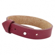 Cuoio armbanden leer 15 mm voor 20 mm cabochon Tawny port red