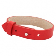 Cuoio armbanden leer 15 mm voor 20 mm cabochon Clear bright red