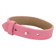 Cuoio armbanden leer 15 mm voor 20 mm cabochon Peonia pink