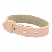 Cuoio armbanden leer 15 mm voor 20 mm cabochon Blush pink