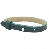 Cuoio armbanden leer 8 mm voor 12 mm cabochon Forrest green